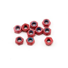 CRC CLN1412 Red Anodized Aluminum Locknuts , 3/16 Hex, 4-40 Thread (10)