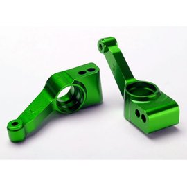 Traxxas TRA1952G   Green Aluminum Rear Stub Axle Carriers (2) Rustler Slash Stampede 4wd