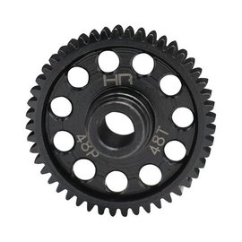 HOT RACING HRASTRF448  48P 48T Speed Run Steel Spur Gear 4 Tec 2