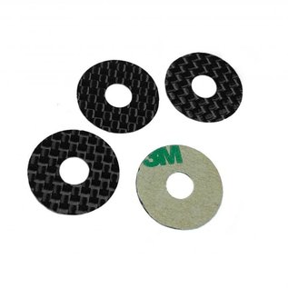 1UP Racing 1UP10403  Carbon Fiber Body Washers - Adhesive Backed - 1/8 Off-Road - (4 Pack)