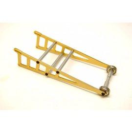 STRC SPTST3678WD  Gold Aluminum Adjustable Wheelie Bar Kit, for Traxxas Slash 2WD LCG, Rustler,  Bandit