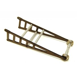 STRC SPTST3678WBK  Black Aluminum Adjustable Wheelie Bar Kit, for Traxxas Slash 2WD LCG, Rustler,  Bandit