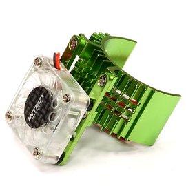 Integy T8074GREEN Motor Heatsink 540 Size w/ Cooling Fan for Slash, Stampede 2WD, Rustler & Bandit