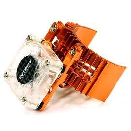 Integy T8074ORANGE Motor Heatsink 540 Size w/ Cooling Fan for Slash, Stampede 2WD, Rustler & Bandit