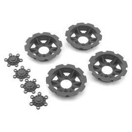 "J Concepts JCO2668-8  JConcepts ""Tracker"" Monster Truck Wheel Mock Beadlock Rings (Silver) (4)"