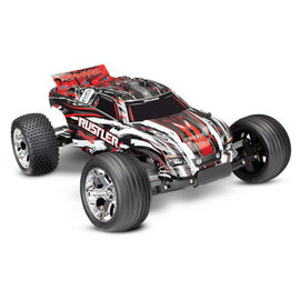 Traxxas TRA37054-1 Red Rustler RTR w/XL-5 ESC with Battery & Charger
