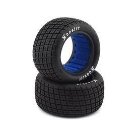 "Proline Racing PRO8274-03  Hoosier Angle Block 2.2"" M4 (Super Soft) Off-Road Buggy Rear Tires, (2)"