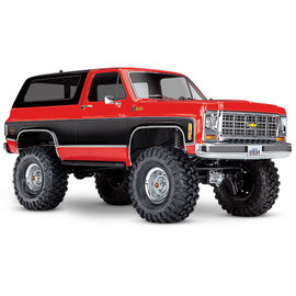 Traxxas TRA82076-4-RED TRX-4 1/10 Trail Crawler Truck w/'79 Chevrolet K5 Blazer Body