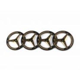 Arrowmax AM-171007  Alu Set-Up Wheel For Rubber Tires Black Golden (4)