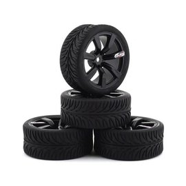Firebrand RC FBR1SHANXX467  Shanx RT3 Pre-Mounted On-Road Tires (4) (Black)