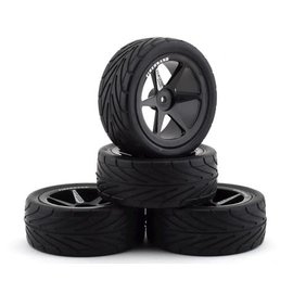 Firebrand RC FBR169240  FBR99599  Neo RT 2.2 Pre-Mounted On-Road Tires (4) (Black)