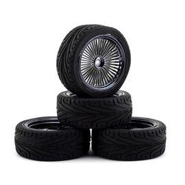 Firebrand RC FBR1WHEOGB591  FBR71859  OG RT3 Pre-Mounted On-Road Tires (4) (Smoke Chrome)