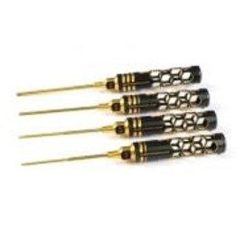 Arrowmax AM-410993-BG  Allen Wrench Set 1.5, 2.0, 2.5 & 3.0 X 100mm - 4-Teilig. Black Golden