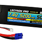 Lectron Pro 2S5200-50E  Lectron Pro 2S 7.4v 5200mAh 50C Lipo Battery w/ EC3 Plug