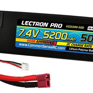 Lectron Pro 2S5200-50D  Lectron Pro 2S 7.4v 5200mAh 50C LiPo Battery w/ Deans Connector