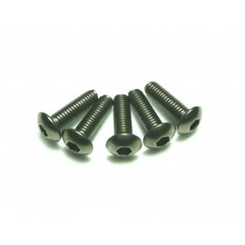 Team Powers TP-BH3X12T  M3X12 Tianium Button Head Screws (8)