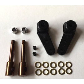 Hyperdrive 180-162  Steering Block & 1/8 Inline Axles w/ Shims