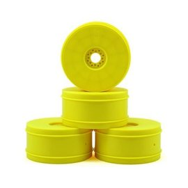 J Concepts JCO3357Y  Yellow Bullet 83mm 1/8Th Buggy Wheels (4)