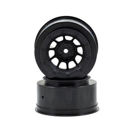 J Concepts JCO3350B  Black Hazard Slash 2WD Front Wheel (2)