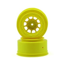 J Concepts JCO3350Y  Yellow Hazard Slash 2WD Front Wheel  (2)