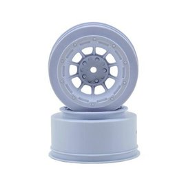 J Concepts JCO3350W  Hazard Slash 2WD Front Wheel White (2)