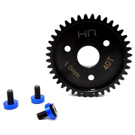 HOT RACING HRASRVO440  Steel Spur Gear, 40 Tooth, 1.0 Mod, with Blue Washers  Traxxas Revo 3.3 & Slayer Pro 4X