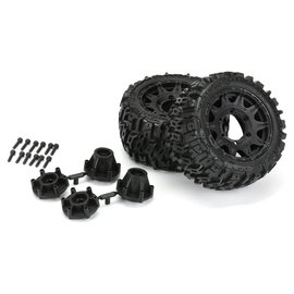 "Proline Racing PRO10159-10  Trencher LP 2.8"" All Terrain Tires Mounted Wheels (2) Stampede/Rustler"