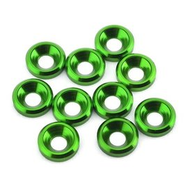 175RC 175-12125  Aluminum Flat Head High Load Spacer (Green) (10)