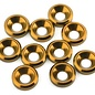 175RC 175-12127  Aluminum Flat Head High Load Spacer (Gold) (10)