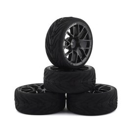 Firebrand RC FBR71868 Firebrand RC Hypernova-RT3 Pre-Mounted On-Road Tires (4) (Gun Metal)
