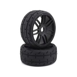 GRP Tyres GRPGTX01-S5  TO1 Revo Belted Pre-Mounted 1/8 Buggy Tires (Black) (2) (S5)