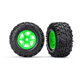 Traxxas TRA7772G  X-Maxx AT Tires on Green Wheels (2)