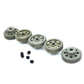 Surpass Hobby USA SP-011025-25 64P Hard Anodized 7075 Aluminum Pinion Gear Set 41T-45T (5)