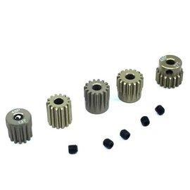 Surpass Hobby USA SP-011025-44 48P Hard Anodized 7075 Aluminum Pinion Gear Set 13T-17T (5)