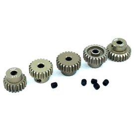 Surpass Hobby USA SP-011025-46 48P Hard Anodized 7075 Aluminum Pinion Gear Set 21T-25T (5)