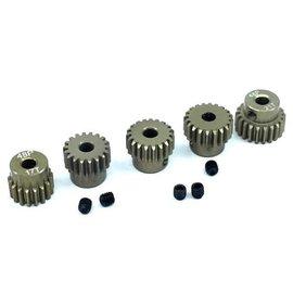 Surpass Hobby USA SP-011025-45 48P Hard Anodized 7075 Aluminum Pinion Gear Set 17T-21T (5)