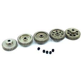 Surpass Hobby USA SP-011025-49 48P Hard Anodized 7075 Aluminum Pinion Gear Set 33T-37T (5)