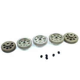 Surpass Hobby USA SP-011025-50 48P Hard Anodized 7075 Aluminum Pinion Gear Set 37T-41T (5)
