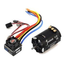 Hobbywing HWI38020241  XR10 Justock Sensored Brushless ESC/SD G2.1 Motor Combo (17.5T)