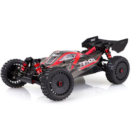 Arrma ARA106046  V4 1/8 Typhon 6S BLX RTR 1/8 4WD Buggy (Black/Red)