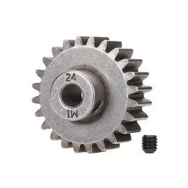 Traxxas TRA6496X  24T Steel Mod 1.0 Pinion Gear w/5mm Bore