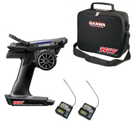 Sanwa SNW101A32461A  M17 FH5 4-Channel 2.4GHz Radio System w/  RX-491 Receiver & bag (1) FREE EXTRA RX-491 Receiver
