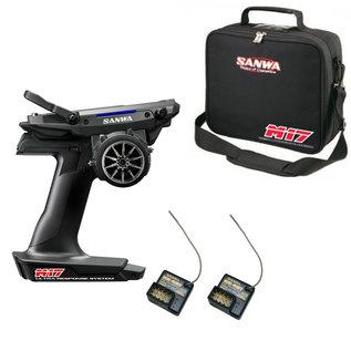 Sanwa SNW101A32461A  M17 FH5 4-Channel 2.4GHz Radio System w/  RX-491 Receiver & bag (1) FREE EXTRA RX-491 Receiver