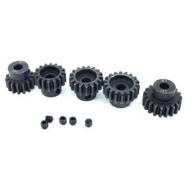 Surpass Hobby USA SP-011025-66 MOD 1 Hard Coated Alloy Steel Pinion Gear Set 13T-17T (5)