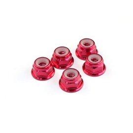 RocheRC USA 510004 M4 Aluminum Locknut (Red), 5 pcs