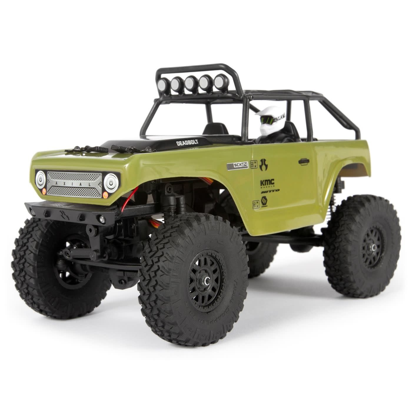 AXI90081T2 1/24 SCX24 Deadbolt 4WD Rock Crawler Brushed RTR, Green