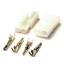 Integy C23353WHITE 7.2V Type Gold Plated Connector Set
