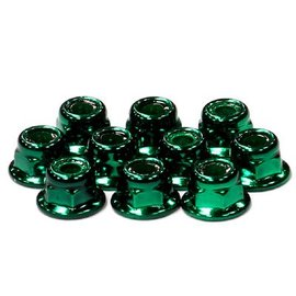 Integy C24434G  Green Color Flanged Locknut 4mm (10)
