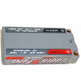 MOTIV MOV2037  Defy-G 2S 7.6v 4100mAh 90C Low Profile LiPo Shorty w/ 5mm Bullets