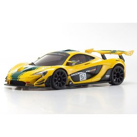 Kyosho KYOMZP235YG-B  McLaren P1 GTR Yellow/Green Body Set, for MR-03W-MM Chassis